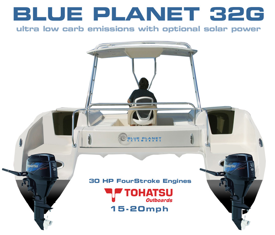 Blue Planet 32G - The Four Stroke, Gas Outboard, Eco Power
